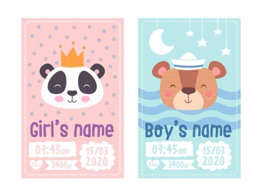 Fødselstavle til dreng eller pige